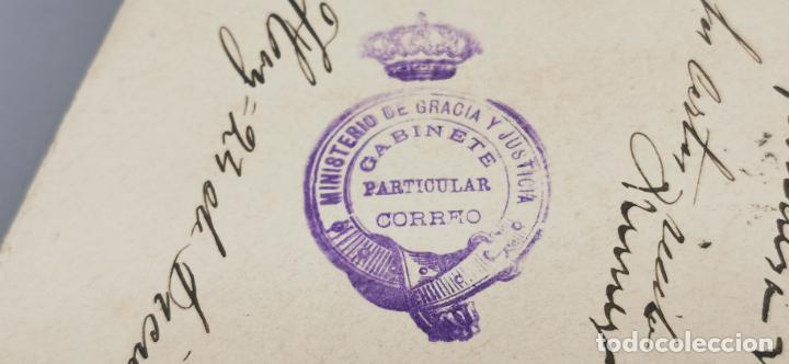 Sellos: SOBRE VALLADOLID CON SELLO MINISTERIO DE GRACIA Y JUSTICIA AÑO 1899 - Foto 2 - 264292816