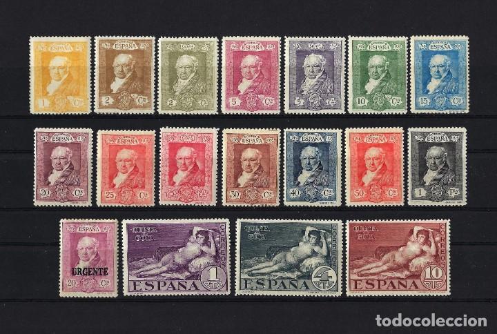 1930 ESPAÑA EDIFIL 499/516 QUINTA DE GOYA EXPO SEVILLA MNH** NUEVOS SIN FIJASELLOS (Sellos - España - Alfonso XIII de 1.886 a 1.931 - Nuevos)