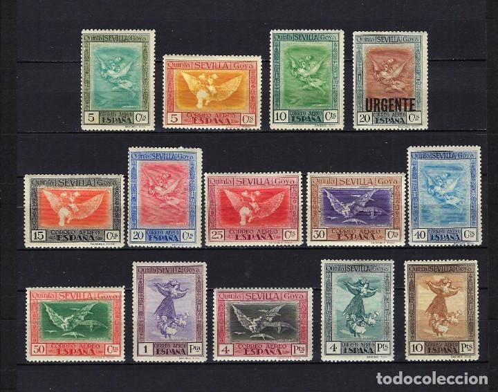1930 ESPAÑA EDIFIL 517/530 CORREO AÉREO - GOYA EXPO SEVILLA MNH** NUEVOS SIN FIJASELLOS Y MLH* (Sellos - España - Alfonso XIII de 1.886 a 1.931 - Nuevos)