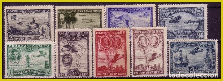 1931 PRO UNIÓN IBEROAMERICANA, AÉREOS, EDIFIL Nº 583 A 591 * COMPLETA (Sellos - España - Alfonso XIII de 1.886 a 1.931 - Nuevos)