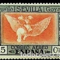 Selos: EDIFIL 520 SELLOS NUEVOS CENTRADO DE LUJO ESPAÑA 1930 QUINTA DE GOYA ESPOSICION SEVILLA. Lote 266771694