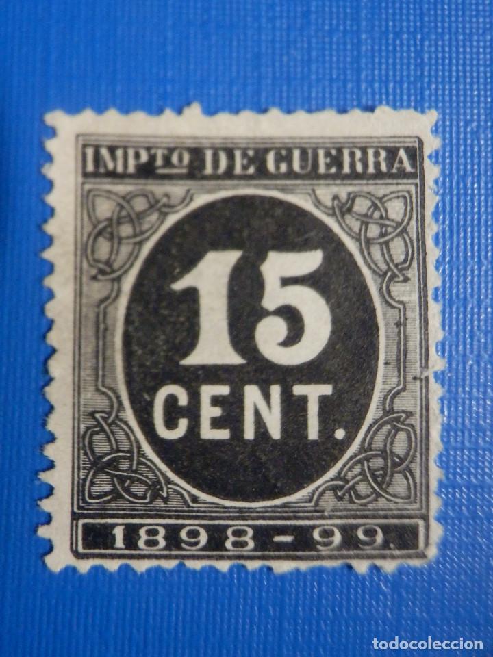 SELLO - ESPAÑA - IMPUESTO DE GUERRA - AÑO 1898 - CIFRAS - EDIFIL 238 - 15 CENT - CÉNTIMOS (Sellos - España - Alfonso XIII de 1.886 a 1.931 - Usados)