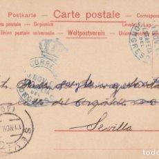 Timbres: POSTAL CON MATASELLOS ESTAFETA DEL CONGRESO - COLOR AZUL- -1902-. Lote 266921404