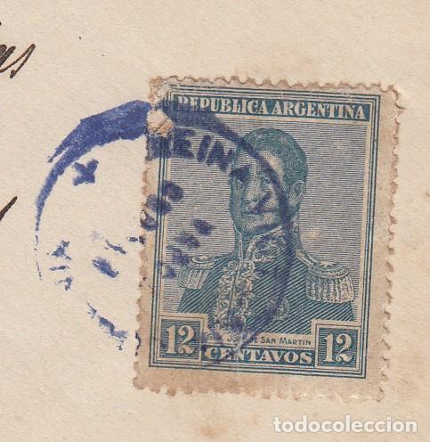 MATASELLOS VAPOR CORREO REINA VICTORIA EUGENIA -COMP. TRANSATALANTICA DE ARGENTINA DESTINO TERRASSA (Sellos - España - Alfonso XIII de 1.886 a 1.931 - Cartas)
