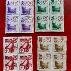 Timbres: ESPAÑA 1949. EDIFIL 1066/69**. NUEVOS EN BLOQUE DE 4.. Lote 267768914