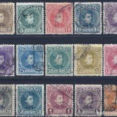 Sellos: EDIFIL 241-255 ALFONSO XIII. TIPO CADETE. 1901-1905 (SERIE COMPLETA). VALOR CATÁLOGO: 243 €. LUJO.. Lote 268173699