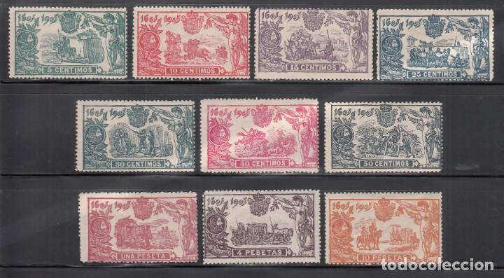 ESPAÑA, 1905 EDIFIL Nº 257 / 266 /*/, III CENTENARIO DE LA PUBLICACIÓN DEL QUIJOTE (Sellos - España - Alfonso XIII de 1.886 a 1.931 - Nuevos)