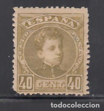 ESPAÑA, 1901-1905 EDIFIL Nº 250 /*/ 40 C. OLIVA. (Sellos - España - Alfonso XIII de 1.886 a 1.931 - Nuevos)