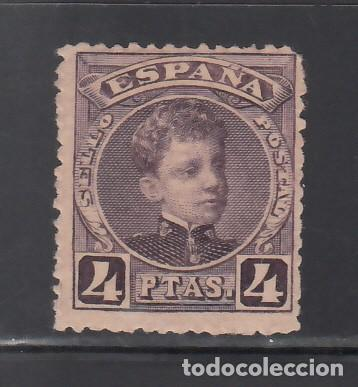 ESPAÑA, 1901-1905 EDIFIL Nº 254 /*/ 4 PTS VIOLETA NEGRUZCO. (Sellos - España - Alfonso XIII de 1.886 a 1.931 - Nuevos)