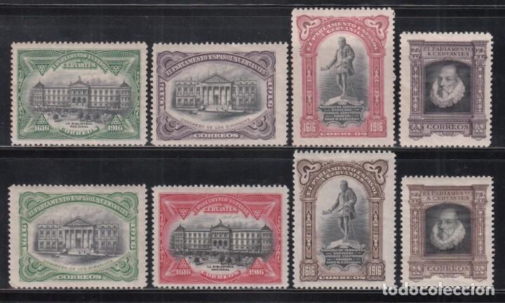 ESPAÑA, 1916 EDIFIL Nº FR. 11 / FR 18 /*/, CENTENARIO DE LA MUERTE DE CERVANTES (Sellos - España - Alfonso XIII de 1.886 a 1.931 - Nuevos)