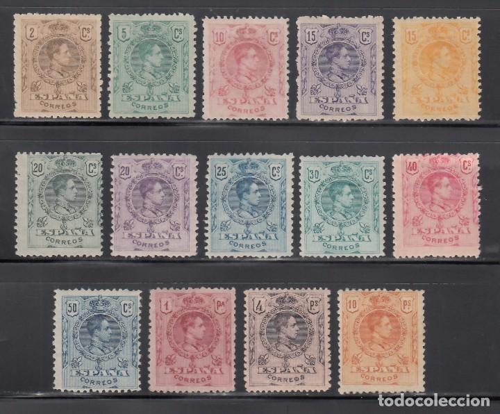ESPAÑA, 1909 - 1922 EDIFIL Nº 267 / 280 /**/ ALFONSO XIII, TIPO MEDALLÓN, SIN FIJASELLOS (Sellos - España - Alfonso XIII de 1.886 a 1.931 - Nuevos)