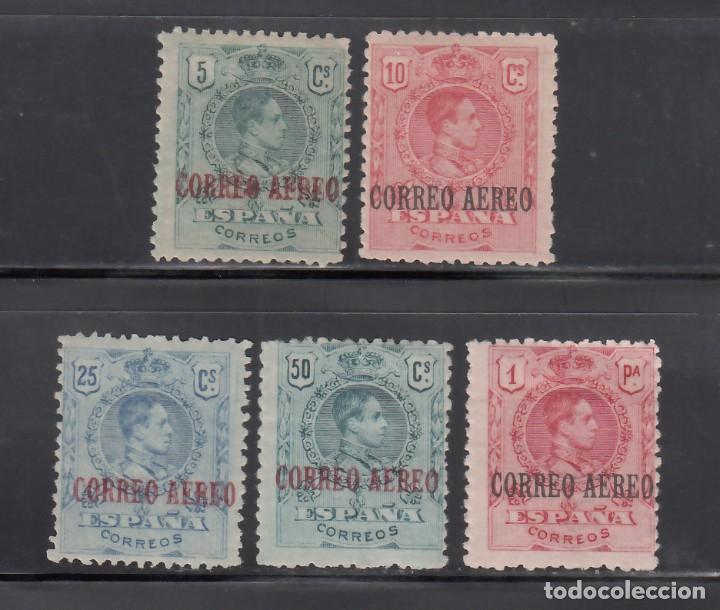"""ESPAÑA, 1920 EDIFIL Nº 292 / 296 /*/, ALFONSO XIII. TIPO MEDALLÓN, HABILITADOS """"CORREO AEREO"""" (Sellos - España - Alfonso XIII de 1.886 a 1.931 - Nuevos)"""