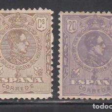 Timbres: ESPAÑA, 1920 EDIFIL Nº 289 / 290 /*/ ALFONSO XIII, TIPO MEDALLÓN,. Lote 268461444
