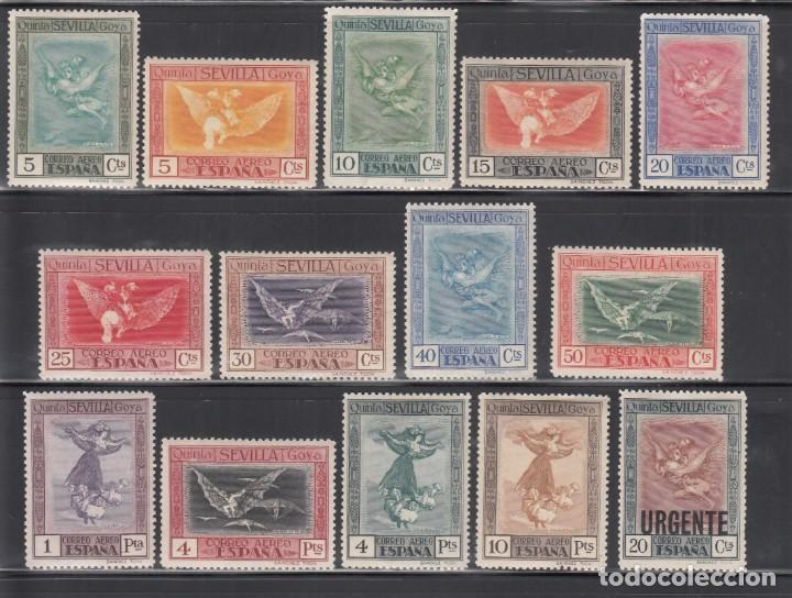 ESPAÑA, 1930 EDIFIL Nº 517 / 530 /*/. QUINTA DE GOYA EN LA EXPOSICIÓN DE SEVILLA (Sellos - España - Alfonso XIII de 1.886 a 1.931 - Nuevos)