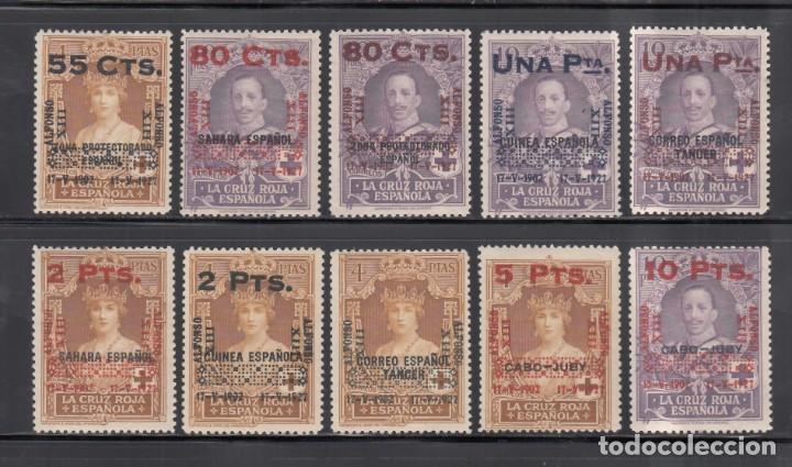 ESPAÑA. 1927 EDIFIL Nº 392 / 401 /**/, ANIVERSARIO DE LA CORONACIÓN DE ALFONSO XIII. SIN FIJASELLOS (Sellos - España - Alfonso XIII de 1.886 a 1.931 - Nuevos)