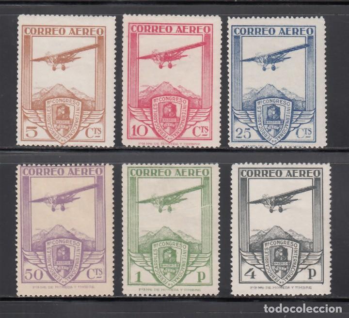 ESPAÑA. 1930 EDIFIL Nº 483 / 488 /*/ XI CONGRESO INTERNACIONAL DE FERROCARRILES, (Sellos - España - Alfonso XIII de 1.886 a 1.931 - Nuevos)