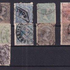 Selos: SELLOS ESPAÑA AÑO 1889 EDIFIL 213/226 SERIE CORTA EN USADO BONITOSS MATASELLOS VALOR CATALOGO 46 €. Lote 268829904