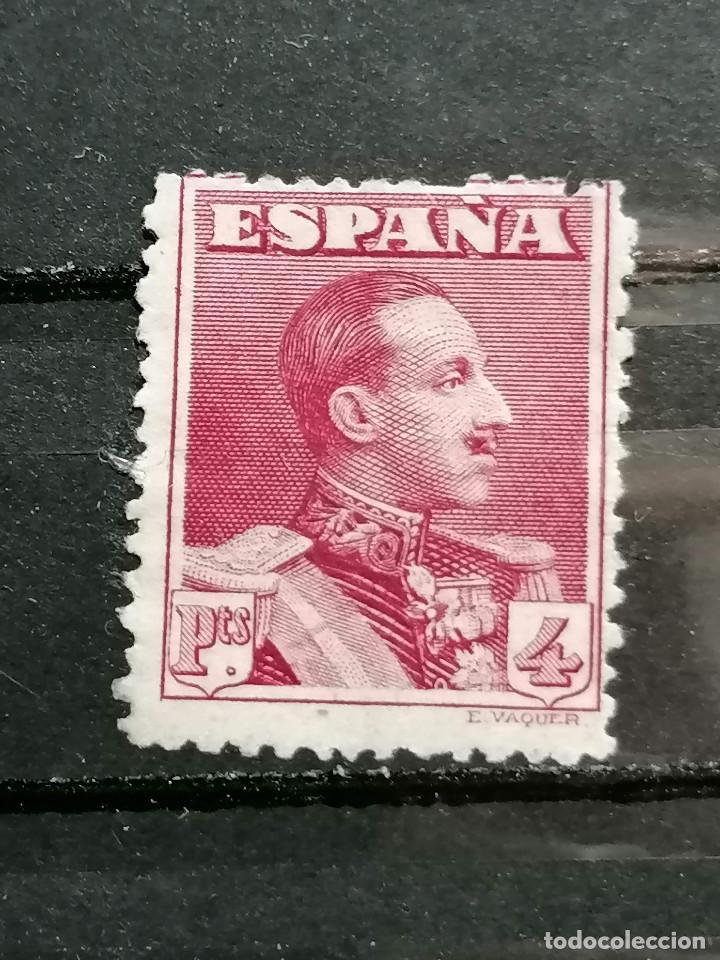 ESPAÑA SELLO ALFONSO XIII 4 PESETAS EDIFIL 322 NUEVO * SIN GOMA CON MARQUILLA (Sellos - España - Alfonso XIII de 1.886 a 1.931 - Nuevos)