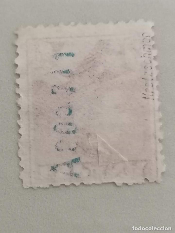 Sellos: España Sello Alfonso XIII 4 pesetas Edifil 322 Nuevo * sin goma con Marquilla - Foto 2 - 269289923
