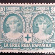 Sellos: 1926 15 SEPTIEMBRE. PRO 30 C. CRUZ ROJA ESPAÑOLA 332.VERDE AZULADO.CCTT. Lote 269726048