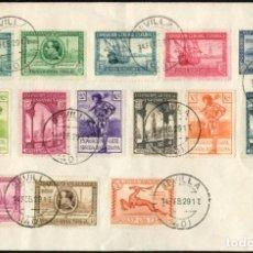 Sellos: 1929 EXPOSICIONES DE SEVILLA Y BARCELONA EDIFIL 434/47(º) SERIE COMPLETA V. CATALOGO 248,00€. Lote 269811843