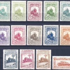 Sellos: EDIFIL 469-482 CONGRESO INTERNACIONAL DE FERROCARRILES 1930. VALOR CATÁLOGO: 1.397 €. LUJO. MH *. Lote 270979498