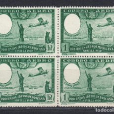 Sellos: 1930 EDIFIL 588ECEF(*) NUEVOS SIN GOMA. BLOQUE CUATRO. VARIEDAD SIN EFIGIE (221). Lote 271684098