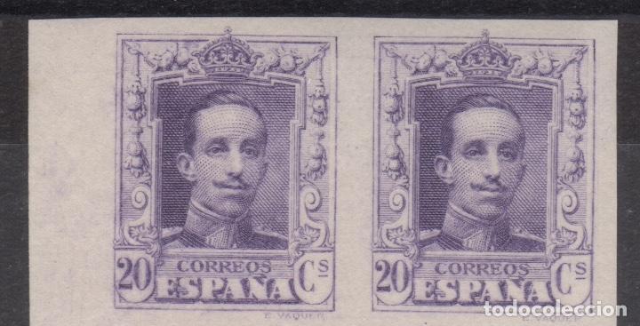1922-1930 ALFONSO XIII TIPO VAQUER EDIFIL 316S** PAREJA VC 124,00€ (Sellos - España - Alfonso XIII de 1.886 a 1.931 - Nuevos)