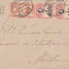 Timbres: F3-6- RARO FRONTAL MADRID MELILLA 1921 URGENTE + PAREJA SELLOS UPU ALFONSO XIII. Lote 272780553