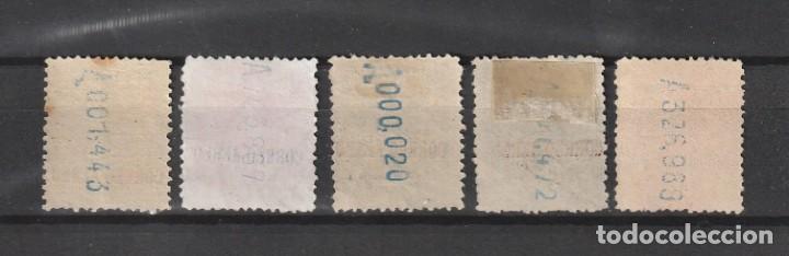 Sellos: España.Alfonso XIII.Edifil nº292-296.Aereos.Sobrecargados.Completa.Usados. - Foto 2 - 274214428