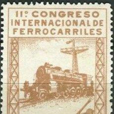 Selos: EDIFIL 481 MNH SELLOS NUEVOS ESPAÑA 1930 XI CONGRESO INTERNACIONAL FERROCARRILES. Lote 275691263