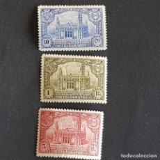 Selos: 1935, HUÉRFANOS TELÉGRAFOS, PALACIO COMUNICACIONES BARCELONA, EDIFIL 7-9*, POCO FIJ, ( LOTE AR ). Lote 275913898