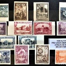 Sellos: ESPAÑA 1930 ALFONSO XIII PRO UNIÓN IBEROAMERICANA FALTA 569-577-581S (MNH) SIN DENTAR,LOS DE LA FOTO. Lote 276146968