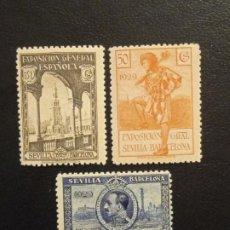 Timbres: AÑO 1929 PRO EXPOSICIONES DE SEVILLA Y BARCELONA EN NUEVO EDIFIL 441-442-443 VALOR DE CATALOGO 50,00. Lote 276592268