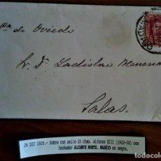 Sellos: ALFONSO XIII VAQUER MADRID 1925 ALCANCE NORTE. Lote 276802098