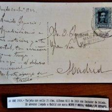 Sellos: ALFONSO XIII VAQUER OVIEOD 1924 MADRID MARCA NUEVA Y MEDIA MAÑANA PRIMER REPARTO. Lote 276802333