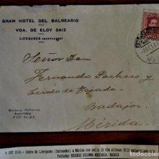 Sellos: ALFONSO XIII VAQUER MADRID 1930 FECHADOR MATASELLO BUZONES COLUMNA MEDIODÍA LIÉRGANES BALNEARIO. Lote 276804358