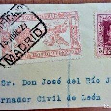 Sellos: ALFONSO XIII VAQUER CERTIFICADO MADRID URGENTE. Lote 276805613