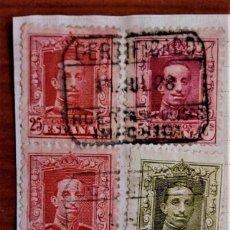 Sellos: ALFONSO XIII VAQUER CERTIFICADO HUER??? MADRID. Lote 276805748