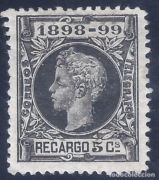 EDIFIL 240 ALFONSO XIII. IMPUESTO DE GUERRA 1898-1899. CENTRADO DE LUJO. VALOR CATÁLOGO: 29 €. MH * (Sellos - España - Alfonso XIII de 1.886 a 1.931 - Nuevos)