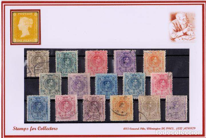 EDIFIL 268/80, USADOS EN MAGNIFICA CALIDAD +238 (Sellos - España - Alfonso XIII de 1.886 a 1.931 - Usados)