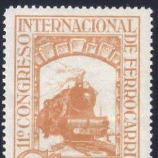Sellos: EDIFIL 478 XI CONGRESO INTERNACIONAL DE FERROCARRILES 1930. MH *. Lote 278839103
