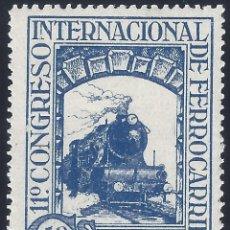 Sellos: EDIFIL 477 XI CONGRESO INTERNACIONAL DE FERROCARRILES 1930. MNH **. Lote 278839953