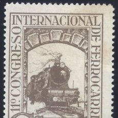 Sellos: EDIFIL 476 XI CONGRESO INTERNACIONAL DE FERROCARRILES 1930. MH *. Lote 278841633