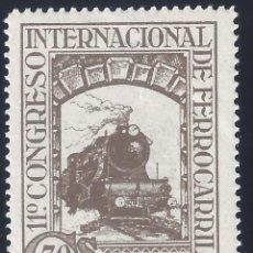 Sellos: EDIFIL 476 XI CONGRESO INTERNACIONAL DE FERROCARRILES 1930. MH *. Lote 278841723
