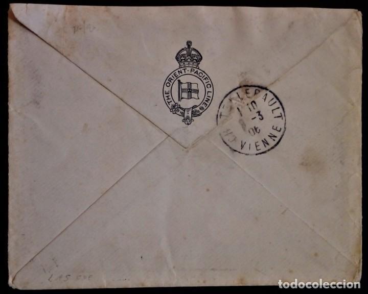 Sellos: ALFONSO XIII CADETE VIGO PONTEVEDRA GALICIA 1906 ALTO PORTE THE ORIENTE PACIFIC LINES - Foto 2 - 279512733