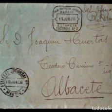 Sellos: CORREOS ESTAFETA SUCURSAL 7 MADRID CAJA POSTAL DE AHORROS RARO 1926. Lote 279515123