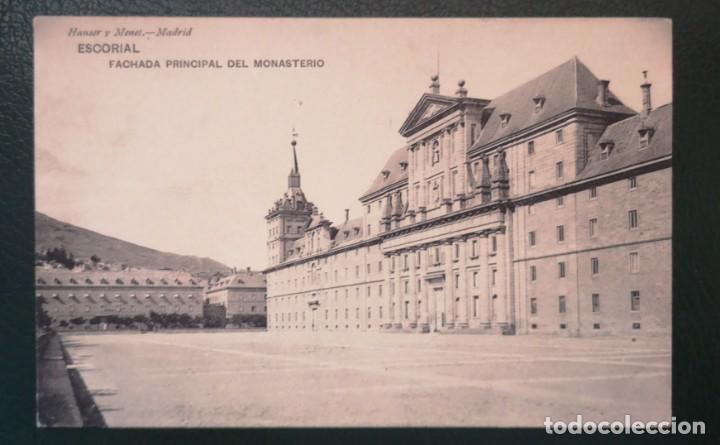 Sellos: POSTAL ENVIADA ESCORIAL - MADRID A GEVEZE -FRANCIA . Alfonso XIII - Foto 2 - 284400808