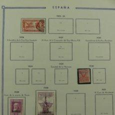 Timbres: HOJA CON SELLOS DE ESPAÑA – AÑO 1905 Y 1930. Lote 285168578