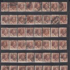 Timbres: ESPAÑA. 1922-1930 EDIFIL Nº 323, 10 PTS CAST. AMARILLENTO, ( 56 SELLOS USADOS, CAT.840€.). Lote 286304048